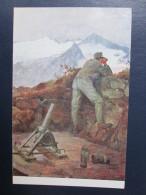1917. WW1  KuK ARTILLERY , MINE THROWER - Guerre 1914-18