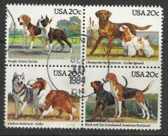 USA 1984 - DOGS - CPL. SET - USED OBLITERE GESTEMPELT USADO - Dogs