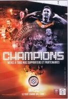 CPM MONTPELLIER CHAMPIONS CALENDRIER SAISON 2012-13 AU DOS  TBE - Calcio