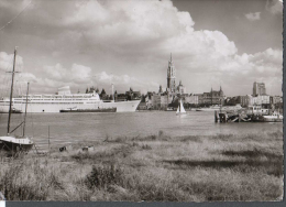 1963 ANVERS ANTWERPEN PORT PROMENADE PANORAMA FG V SEE 2 SCANS BIG SHIP GRAND BATEAU DE CROISIÈRE - Belgio