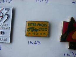 ETTER PNEUS STATION SECURITE GARAGE AUTOMOBILE - Pins