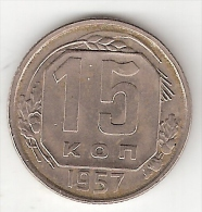 *russia 15 Kopeks 1957  Km 124  Xf+ !!! - Russia