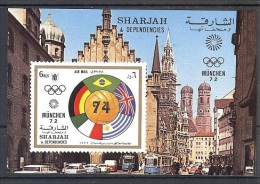 SHARJAH  World Cup-74  S/Sheet  MNH - Fußball-Weltmeisterschaft