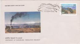 India FDC: 1982 Centenary Of Darjeeling Himalayan Railway  (G47-62) - FDC