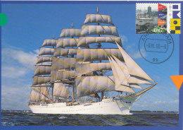 D15277 CARTE MAXIMUM CARD 1995 NETHERLANDS - SAIL AMSTERDAM TALLSHIP SEDOV RUSSIA CP ORIGINAL - Maritime