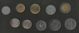 ITALIA - LOT Of 10 DIFFERENT COINS / (LIRE - ITALIAN REPUBLIC) - 1946-… : Repubblica
