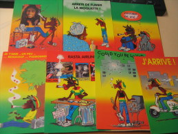 LOT DE 7 CARTES ..JIMMY'S LIFE...SIGNE F. DA CUHNA. - Postcards