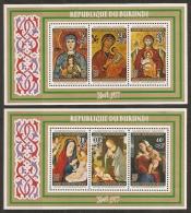 PINTURA - BURUNDI 1977 - Yvert #H101/02 - MNH ** - Madonnas