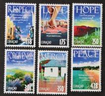CURACAO ++ NEW ++ 2013  VIRTUES RESPECT LOVE HOPE PEACE MNH NEUF ** - Curacao, Netherlands Antilles, Aruba