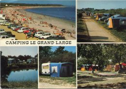 CPSM 29 CAMPING LE GRAND LARGE A LA POINTE DE MOUSTERLIN 1977  Grand Format 15 X 10,5 - Guerlesquin