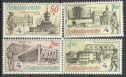 CSR 1988-2952-5 POST MUSEUM, CZECHOSLOVAKAI, 1 X 4v, MNH - Checoslovaquia