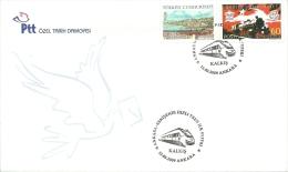 "Turkey; Special Postmark 2009 High-Speed Train ""Ankara-Eskisehir"" 2 Covers (Departure And Arrival) - FDC"