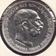 AUSTRIA 1 CORONA 1915 ARGENT SILVER