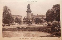 Place Carnot Et Monument De La République - Lyon 2