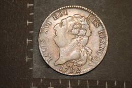 Monnaie, France, Periode Revolutionnaire, Ecu De 6 Livres 1792 A  Type Francois - 1789-1795 Monnaies Constitutionnelles