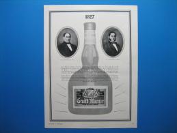 Publicité GRAND MARNIER (1938) - (Établissements Fondés En 1827 à Neauphle-le-Château) - Advertising