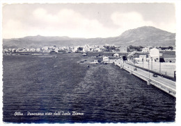 Anni '50, Olbia (Sassari), Panorama Visto Dell'Isola Bianca, Ponte, Treno, Macchina, Animata / Bridge, Railway - Olbia