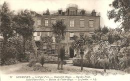 77 - GUERNSEY - ST PETER PORT -  HAUTEVILLE HOUSE, GARDEN FRONT - MAISON DE VICTOR HUGO LE JARDIN - Guernsey
