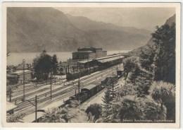 Schweiz. Bundesbahnen, Gothardstrecke. BAHNHOF-ANLAGE LUGANO - Stazioni Con Treni