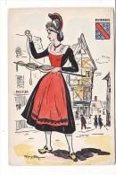 Carte Années 1950 Signée R . Maryotton ? : Bourbonnais (folklore) - Unclassified