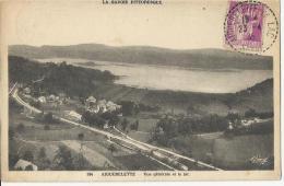 Aiguebelette  -  Vue Générale Sur Le Lac  -  Cachet Poste 1935 - Autres Communes