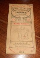 Carte Michelin De La France. Mende-Valence. 1919. - Roadmaps