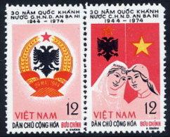 NORTH VIETNAM 1974 30th Anniversary Of Republic Of  Albania MNH / (*).  Sc. 752 - Vietnam