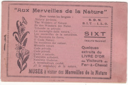 """Petit Livret  Sur  """" Aux  Merveilles  De La  Nature """"   SIXT   ( Format : 13 Cm. X  8,5 Cm.) - Sixt-Fer-à-Cheval"""