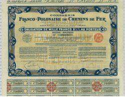 Cie Franco Polonaise De Chemins De Fer - Chemin De Fer & Tramway