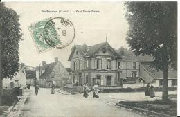 GALLARDON  ( Eure Et Loir ) -  SUR LE PONT NOTRE-DAME -  1906 -  Café - France
