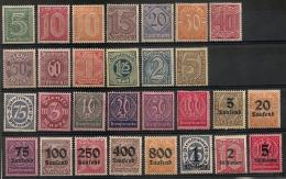 Allemagne. Service. 1920-1923. Entre N° 16 Et 47. Neuf * MH - Germany