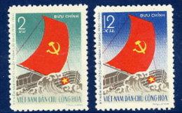 NORTH VIETNAM 1960 Vietnamese Workers' Party Set Of 2   MNH / (*).  Sc. 110-11 - Vietnam