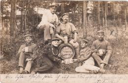 Photocarte Allemande- Militaire Soldats Allemands En Détente Bocs 1903 (2scans) - Guerre 1914-18