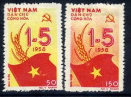 NORTH VIETNAM 1958 Labour Day Set Of 2   MNH / (*).  Sc. 69-70 - Vietnam