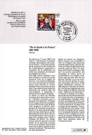 """Notice Philatélique 1er Jour -De La Gaule à La France """"Le Baptême De Clovis"""" - YT 3024 - 1996 - Documents Of Postal Services"""