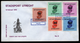 A2554) Netherlands Stadspost Niederlande Stadtpost Brief Utrecht 16.02.1970 - 1949-1980 (Juliana)