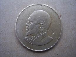 KENYA 1967 TEN CENTS   KENYATTA Nickel-Brass  USED COIN In GOOD CONDITION. - Kenya