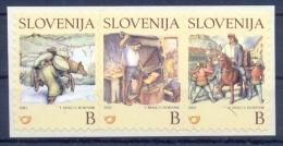 SI 2002-389-91 CHILDREN ILUSTRATION, SLOVENIA, 1 X 3v, MNH - Märchen, Sagen & Legenden