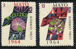 CUBA 1964 Labour Day Set Of 2 MNH / **  Sc. 830-31 - Unused Stamps