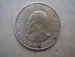 KENYA 1969 TEN CENTS   KENYATTA Nickel-Brass  USED COIN In GOOD CONDITION. - Kenya