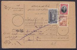 Turkei - 1926 ? - Paketkarte Von Samsoun2 Nach Amassia - Marken Mit Kontrollschnitt - - 1921-... Republik