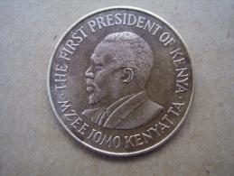 KENYA 1970 TEN CENTS   KENYATTA Nickel-Brass  USED COIN In GOOD CONDITION. - Kenya