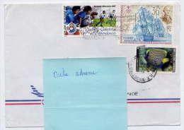 Nlle CALEDONIE--1988--Lettre De Nouméa Pour La France(Nantes-44)-Composition De Timbres  Sur Enveloppe - Briefe U. Dokumente