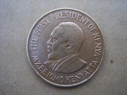 KENYA 1971 TEN CENTS   KENYATTA Nickel-Brass  USED COIN In VERY GOOD CONDITION. - Kenya
