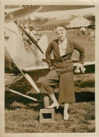 "PHOTO ORIGINALE THÈME AVIATION ""Aviatrice M. HILTZ "" / MODE "" La Jupe Culotte"" - Aviation"