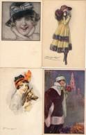 Mauzan : Lot De 4 Cartes Femmes - Mauzan, L.A.