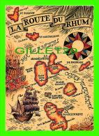 CARTE GÉOGRAPHIQUE - MAP - LA ROUTE DU RHUM - HACHETTE ANTILLES - - Cartes Géographiques