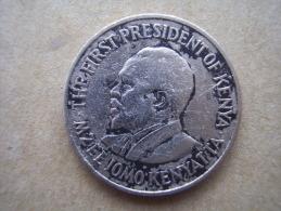 KENYA 1969  FIFTY CENTS   KENYATTA Copper-Nickel  USED COIN In AVERAGE CONDITION. - Kenya