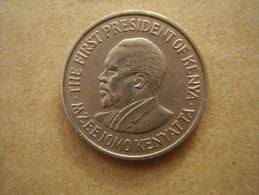 KENYA 1971  FIFTY CENTS   KENYATTA Copper-Nickel  USED COIN In VERY GOOD CONDITION. - Kenya