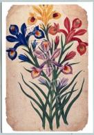 Planche De Colporteur - Iris - Musée Dauphinois - Photo G. Royannais-F. Veillet (Recto-Verso) - Fleurs, Plantes & Arbres